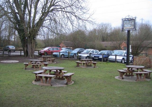 Pub garden & car park