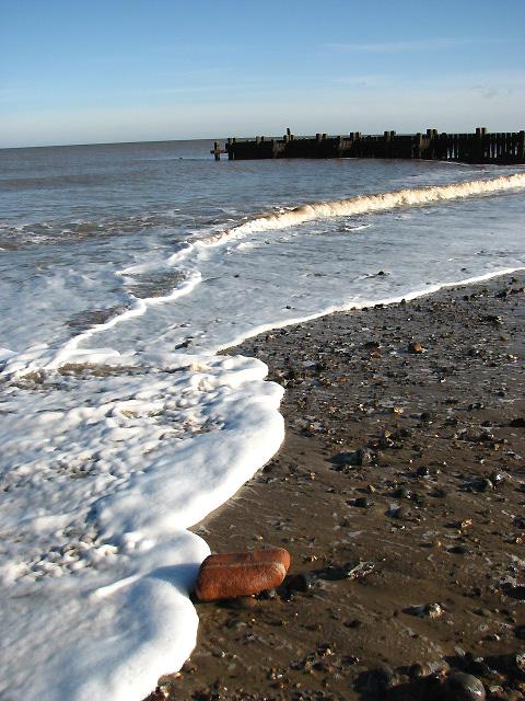Walcott beach when the tide is out