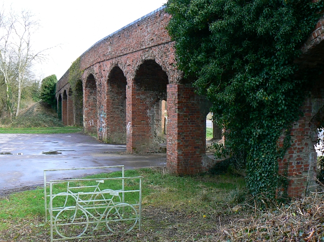 Bridge over trackbed of M&SWJR, near South Cerney