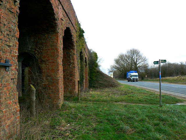 Bridge over trackbed of M&SWJR, Spine Road, near South Cerney