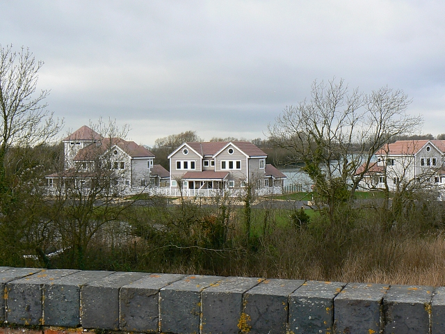 New houses, Cotswold Water Park, near South Cerney