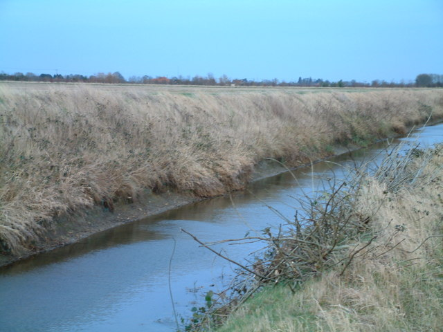Open drainage ditch