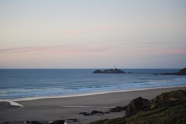 From Hayle Towans looking over to Godrevy