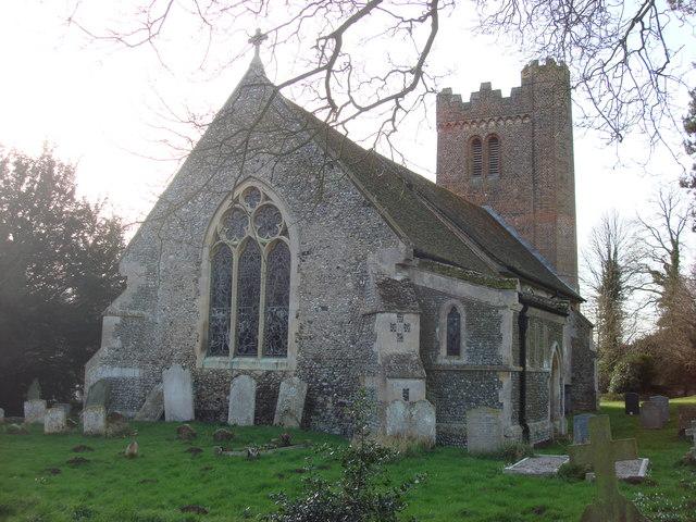Parish church of Liston, east frontage