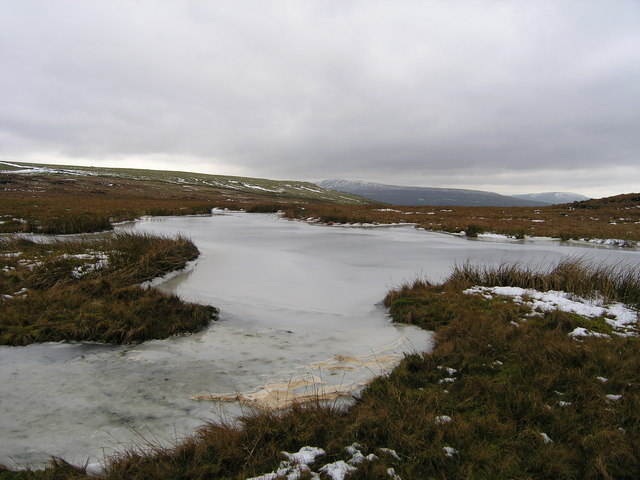 Frozen tarn on Arten Gill Moss