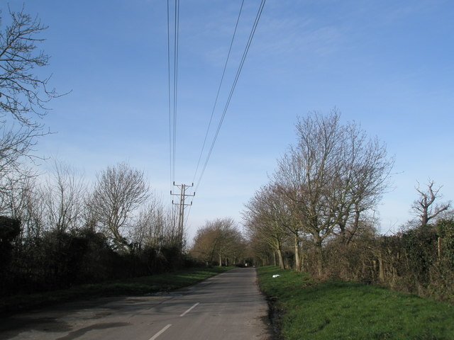 Power lines  in Pook Lane