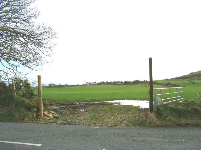 Improved pasturage south of the B4354 at Frochas