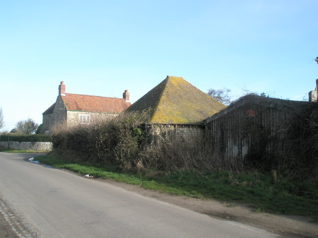 Farm buildings at Warblington Castle.