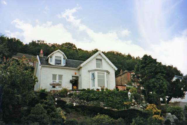 House on Cliffs in Innellan, Cowal Peninsula, Argyll & Bute