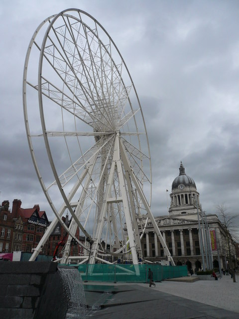 Council House and Wheel under Construction