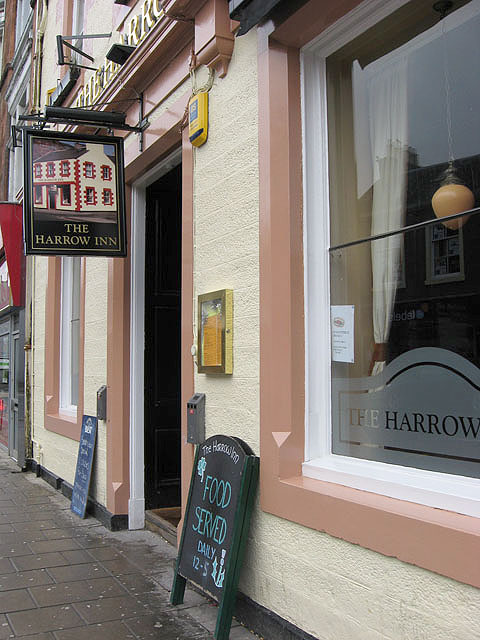 The Harrow Inn sign