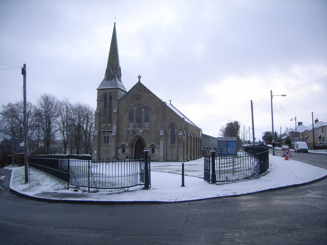 Blackwood Church in the snow