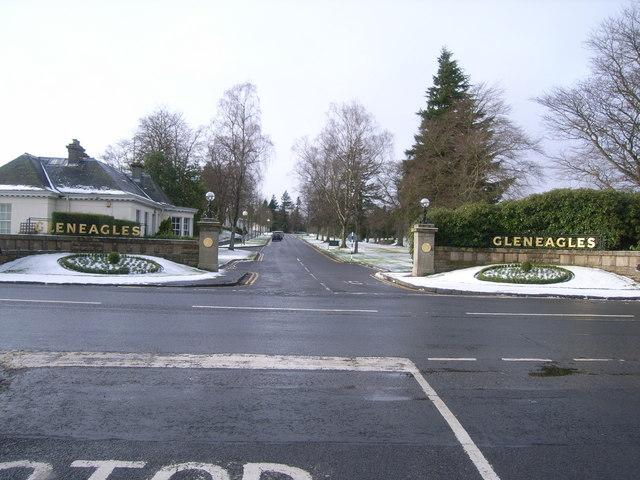 Entrance to Gleneagles Golf Course & Hotel