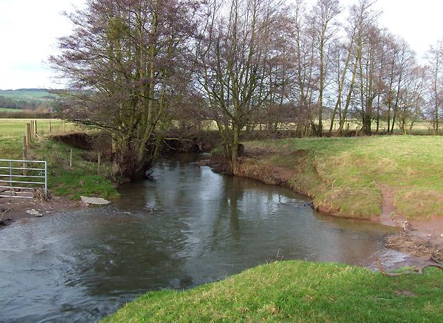 River Corve at Lawton, Shropshire