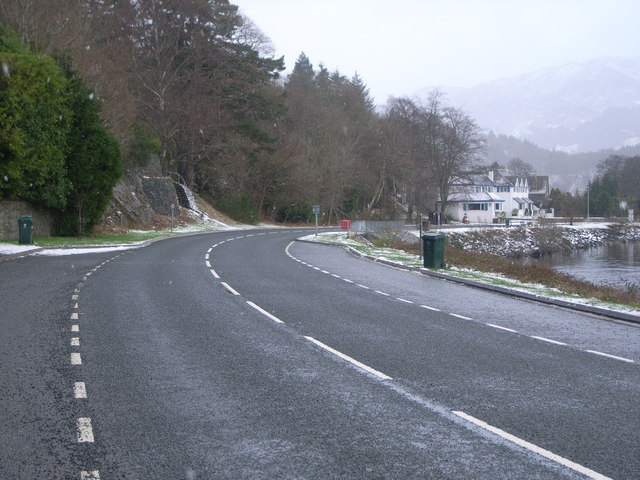 Looking along A85 towards St. Fillans