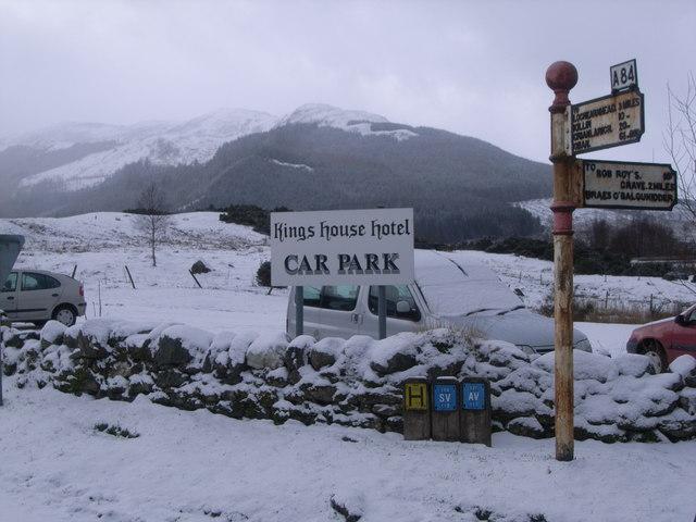 Signpost at Balquhidder Station