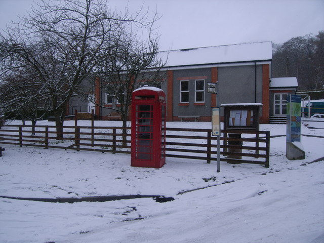 Telephone Kiosk outside Village Hall at Balquhidder