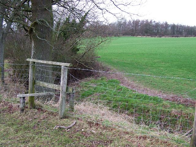 Flimsy Stile and Farmland, Sutton Hill, Shropshire