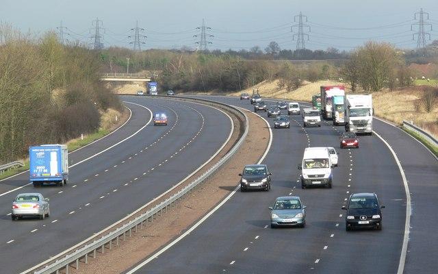 M69 Motorway towards Leicester