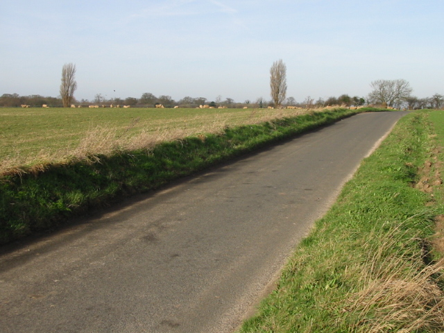 View along road near Chillenden