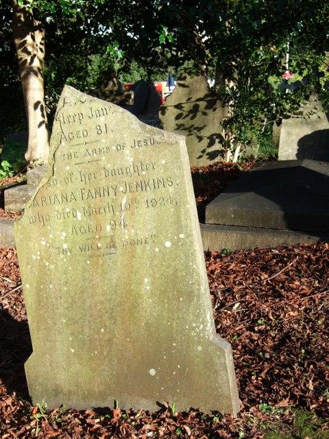 Tombstone, St David's churchyard, Exeter