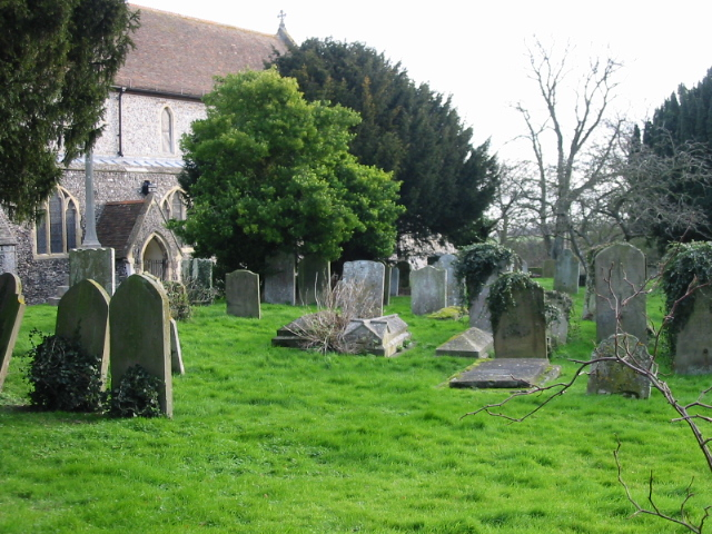 The churchyard at St Mary's, Eastry