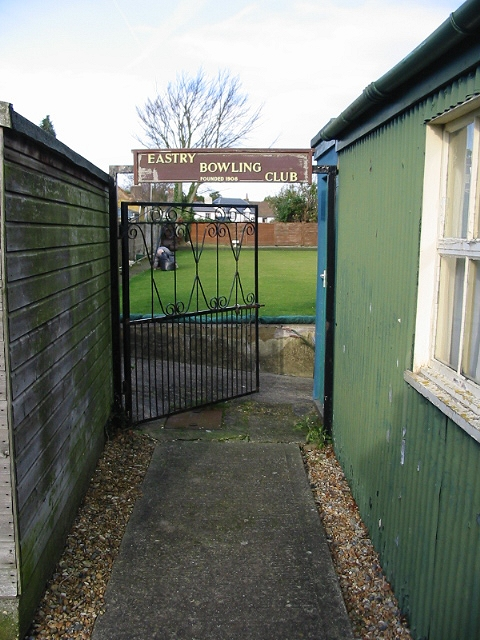 Entrance to Eastry bowling club