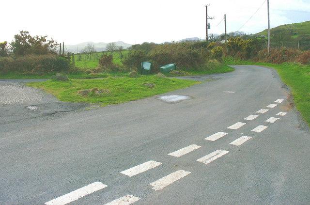 Road junction at Gate-wen