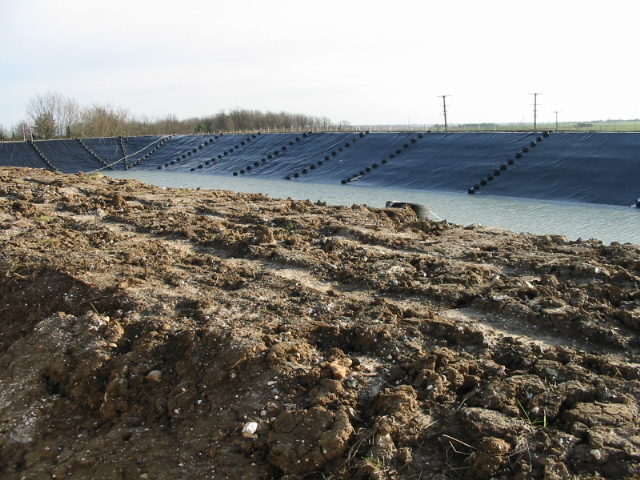A large new farm reservoir being created