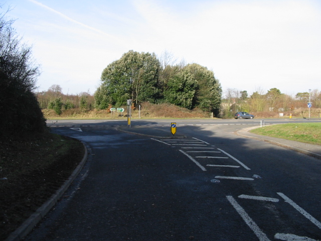 Junction of the Northbourne Road with the A256 Eastry bypass