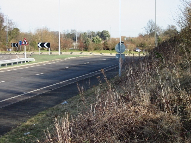 Roundabout on the A256 Eastry bypass