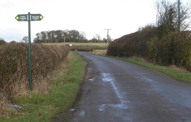 Earl Shilton Road north of Normanton Turville