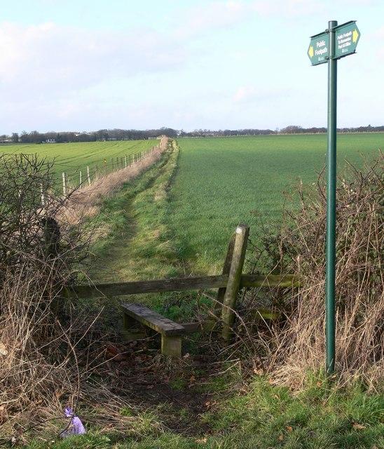 Public footpath to Peckleton