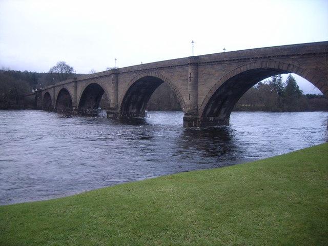 Bridge over the River Tay at Dunkeld