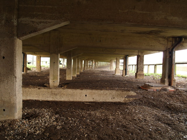 Underneath Evesham Bridge