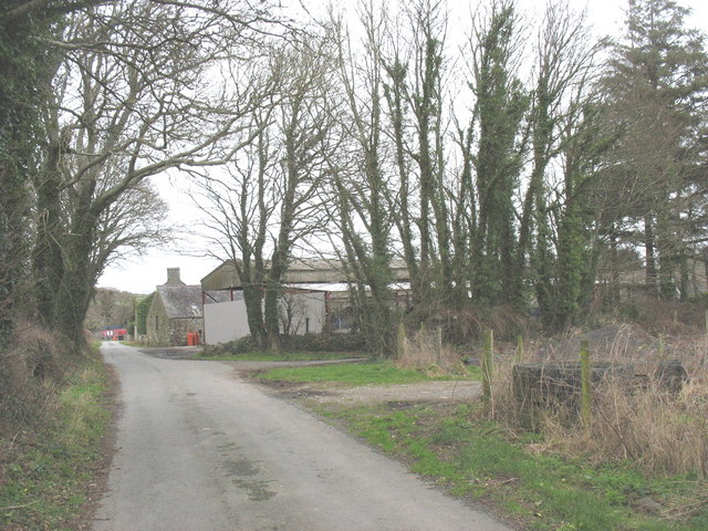 Farm buildings at Bodvel Hall