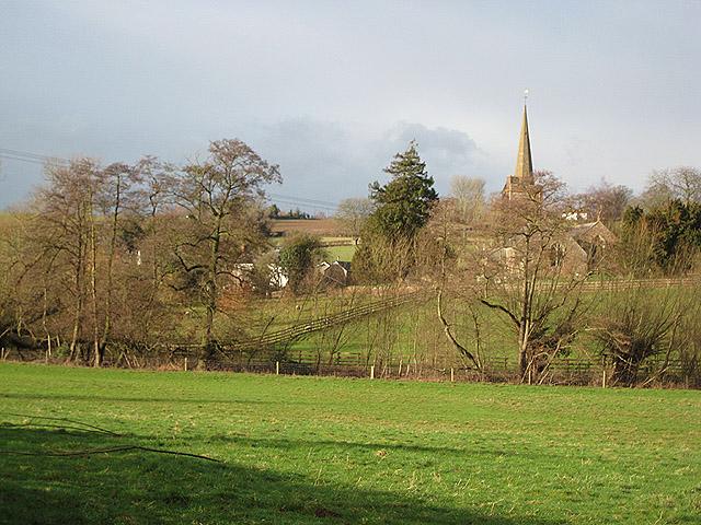 View of the village of Llangarron