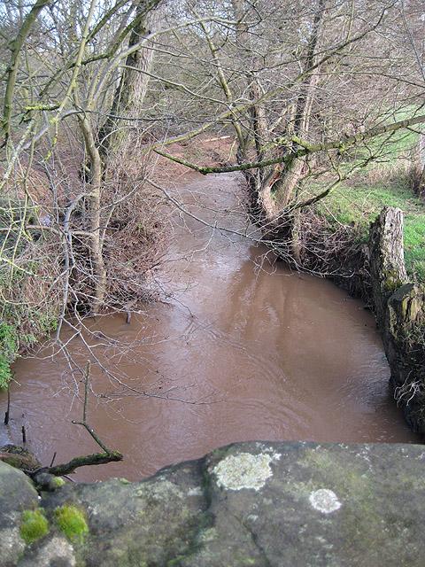 Garren Brook - upstream from the bridge