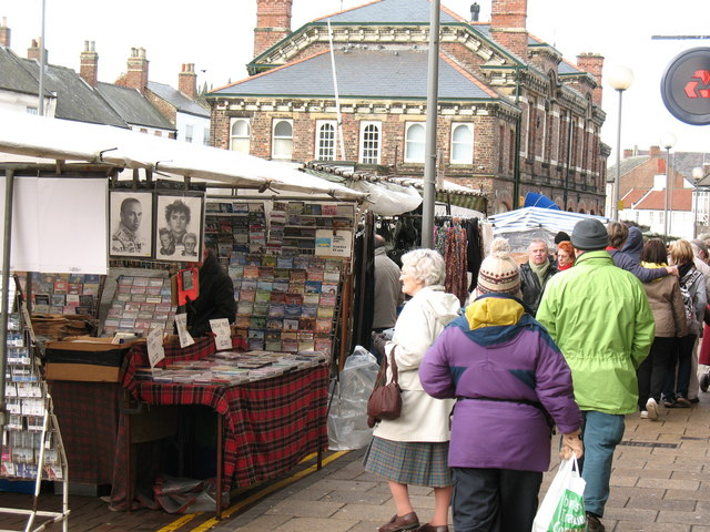 Saturday market in the High Street