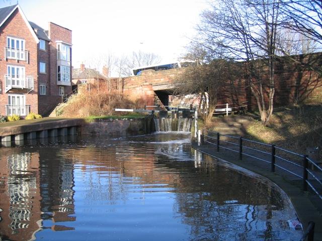 Dee Basin lock and South View Road bridge