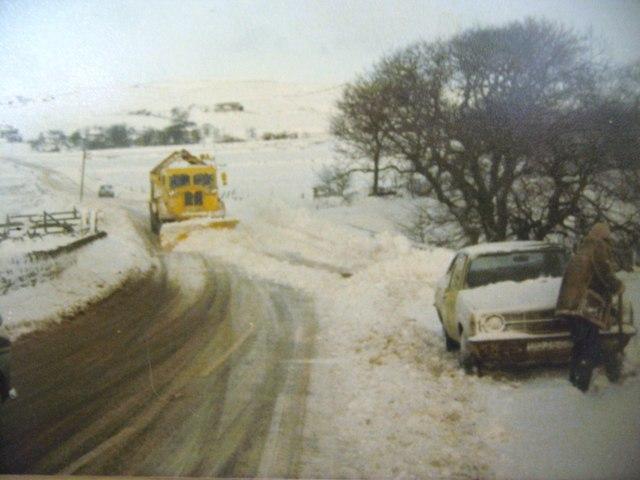 Delph Road Denshaw January 1978