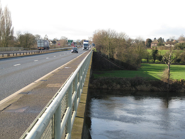 Bypass crosses the River Wye on Bridstow Bridge
