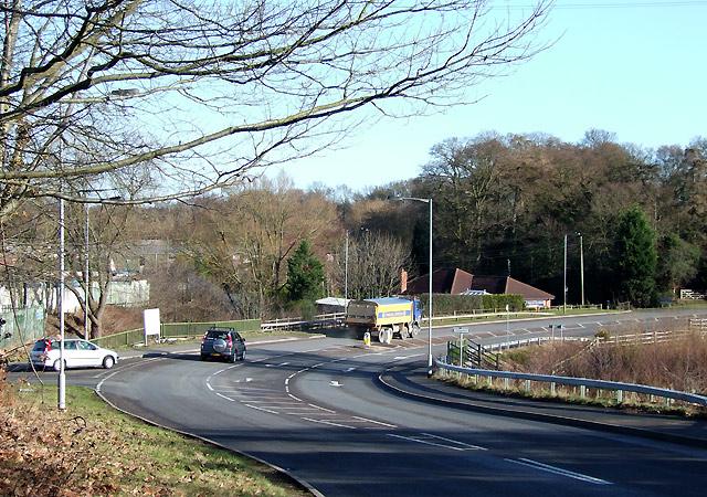 B4176 at Smestow Bridge, Wombourne, Staffordshire