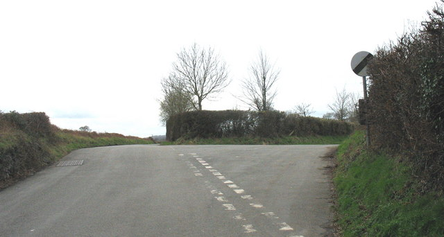 Minor road junction south of the village of Llannor