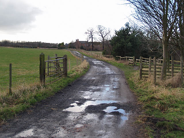 Track leading to Ormesby Grange farm
