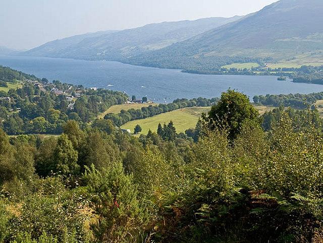 Western end of Loch Earn from the Glen Ogle trail
