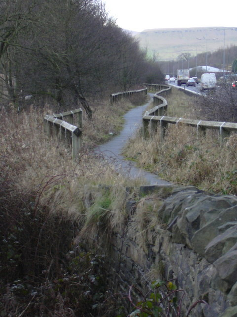 Footpath adjacent to A56 Haslingden Bypass