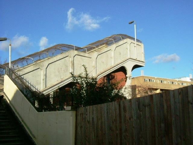 Central Line footbridge - Bentworth Road