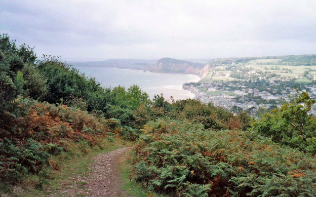 Path down Salcombe Hill to Sidmouth, Devon