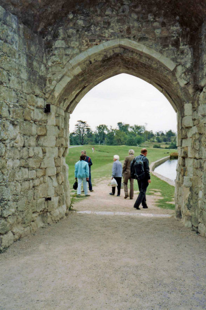 Archway leading to and from Leeds Castle, Kent